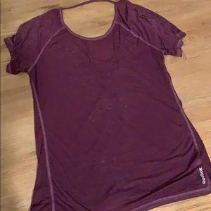 Reebok XL tissue tee heathered purple shirt top